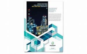 Brochure Word Template Free Oil Gas Company Flyer Template Design