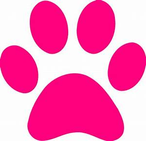 pink print | Dog Paw Print Transparent Background Paw ...