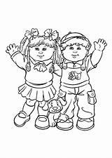 Coloring Boy Pages Cabbage Patch Children Clipart Popular Coloringhome Comments Advertisement sketch template