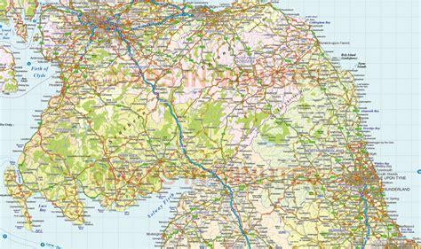 Vector Scotland Map, Regions, Political, Road & Rail