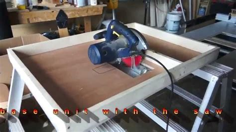 circular saw or table saw circular saw to table saw conversion by c u jmy youtube