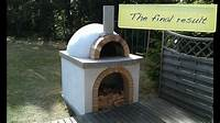 how to build an outdoor pizza oven How to build a pizza oven - YouTube