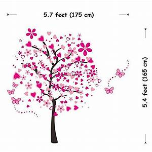 elecmotive huge size cartoon heart tree butterfly wall With best brand of paint for kitchen cabinets with removable wall stickers for girls bedrooms