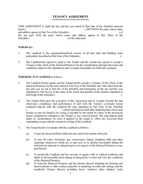 Tenancy Agreement - DOCR SDN. BHD. agreements legal financial consult consultation tenancy will