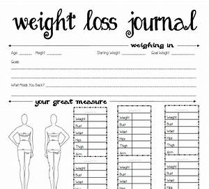 7 Best Images Of Weight Loss Journal Printable Template Weight