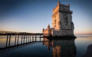 torre de belém em lisboa portugal nature hd wallpaper