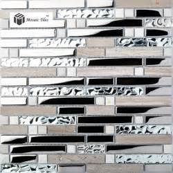 glass mosaic kitchen backsplash kitchen backsplash tile gray marble silver glass mosaic wholesale 1 box including 11 pcs 12 39 39 x12