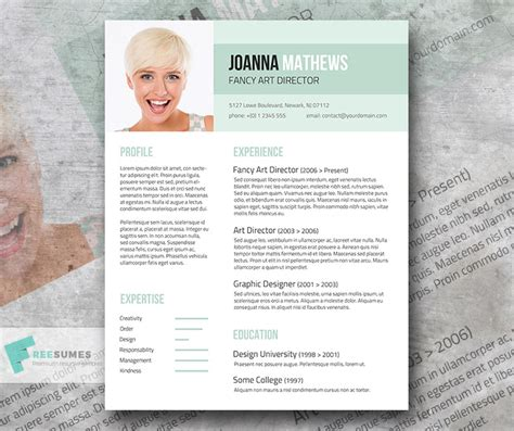 trendy resume template giveaway sense and style