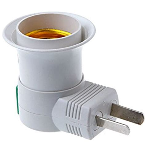 us to e27 led light bulb adapter socket holder with