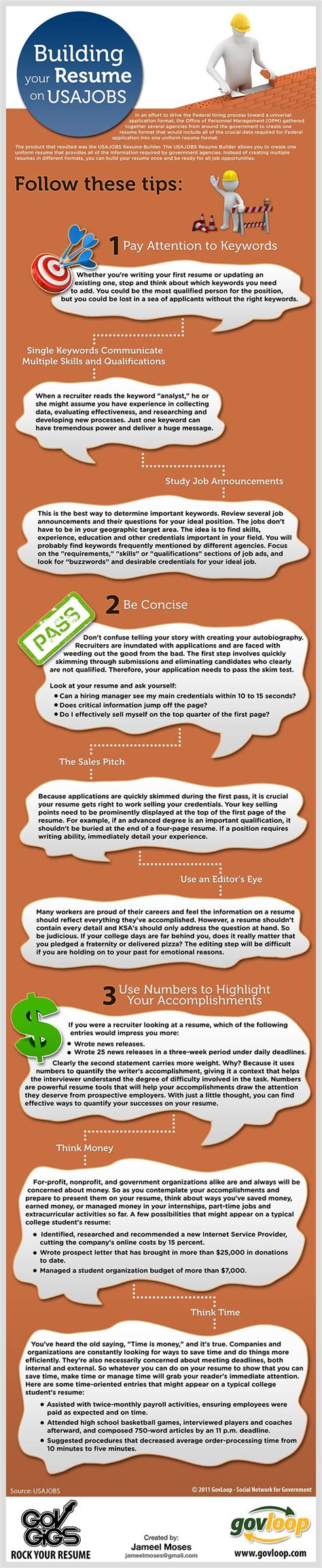 Usajobs Resume Help by Rock Your Resume Usajobs Style Infograph To Help