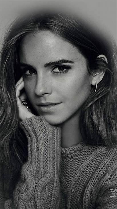 Watson Emma Celebrity Iphone Actress Bw Dark