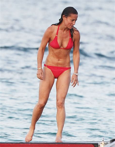 pippa middleton sexy pippa middleton wears red bikini in st barts instyle