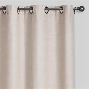 linen grommet top curtains set of 2 world market
