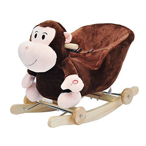 homcom children rocking jolly ride animal toys