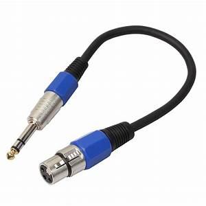30cm Xlr 3 4 Inch  6 35mm  Male Plug