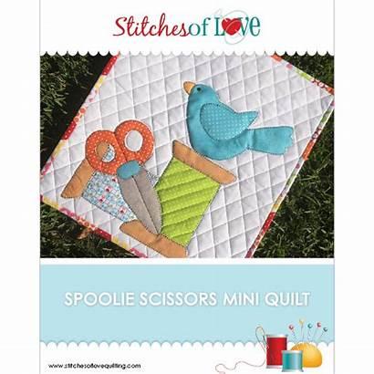 Pattern Scissors Quilt Spoolie Stitchesoflovequilting Patterns Pdf