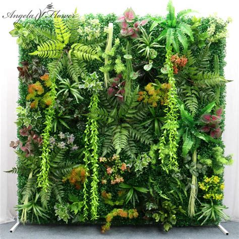In order to ensure that the items you receive will not be out of size, uphsang simulation rattan artificial. 40*60cm Artificial green wall fake plants Eucalyptus leaf ...