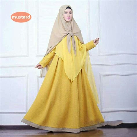 rok bahan baloteli fit to l baju gamis bahan balotelli kekinian safana warna kuning