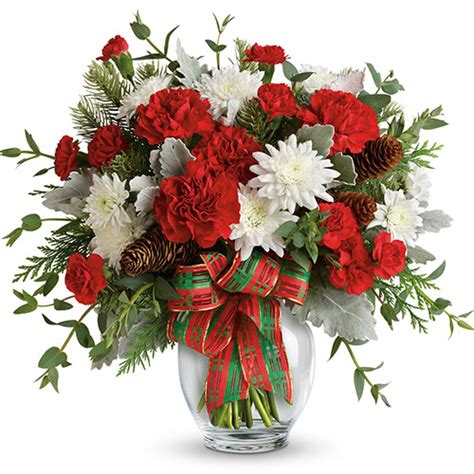 telefloras holiday shine christmas bouquet  ital florist