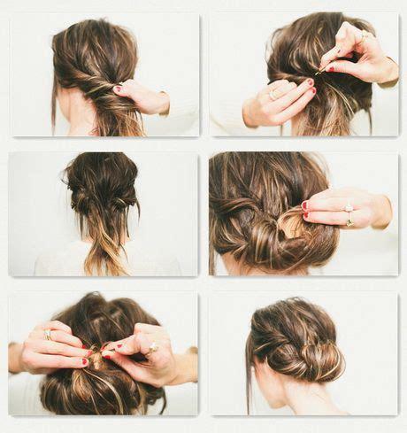 einfache steckfrisuren fuer schulterlanges haar