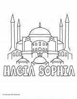 Hagia Coloring Pages History Sophia Drawing Branch Sofia Printable Mosque Sketch Legislative Ancient Caleb Template Drawings Mesopotamia Myhomeschoolprintables Getdrawings Pdf sketch template