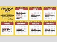 Diario Extra 2017 con 3 fines de semana largos