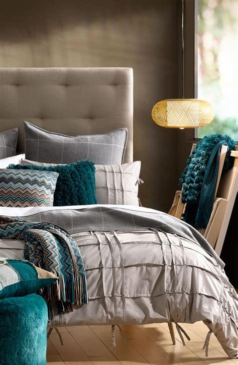 turquoise  grey bedroom  wonderful
