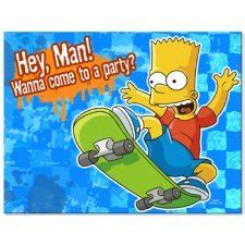foto de Amazon com: The Simpsons Party Invitations 8/Pack 2Pack