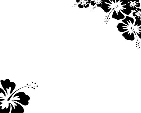 page border designs flowers black  white