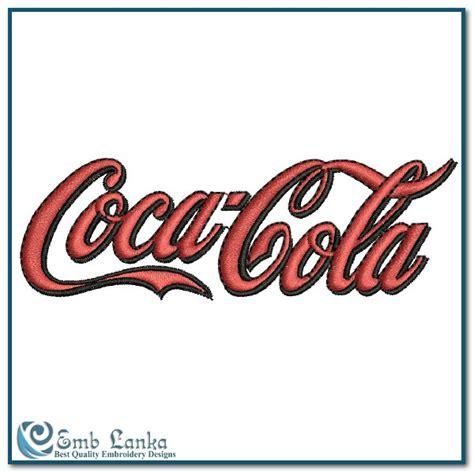 coca cola logo  embroidery design emblankacom