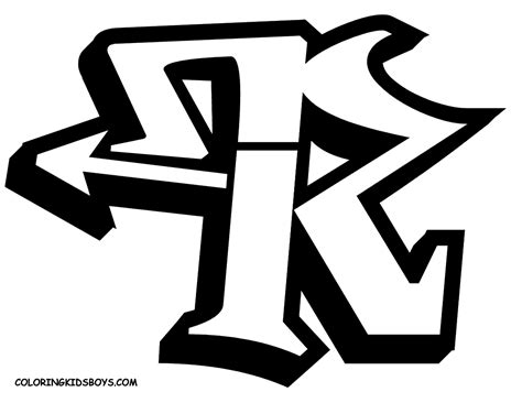 Letter R In A Special Alphabet Graffiti