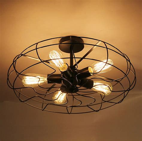 kitchen fans with lights vintage industrial fan ceiling lights american country 4756