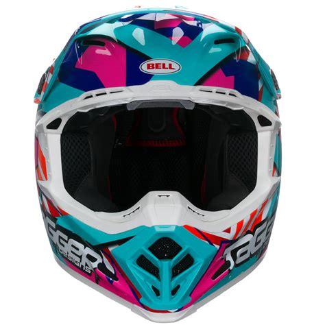 white motocross helmet bell moto 9 tagger trouble blue red white motocross helmet