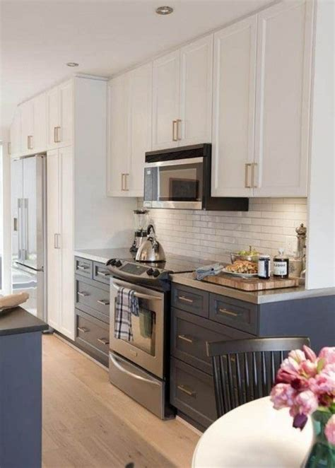 creative ideas for kitchen cabinets darker lowers white uppers decorating home pinterest creative the white and grey