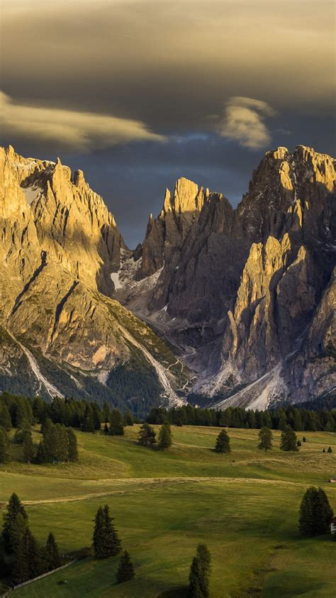 italy nature mountains dolomites