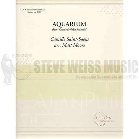 aquarium by camille saens arr matt percussion ensemble sheet