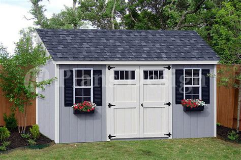 8 16 utility garden storage deluxe shed plans lean to roof style d0816l 610708151869 ebay