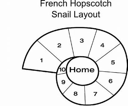 Hopscotch Layout Snail French Play