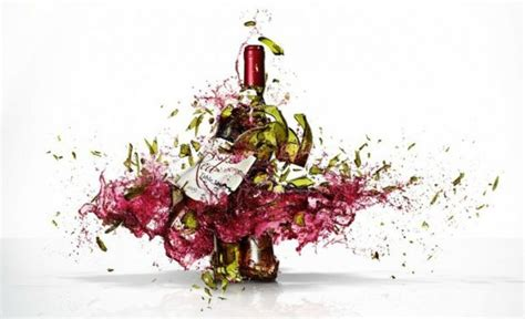 exploding wine bottle