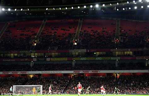 Arsenal record lowest-ever crowd at Emirates Stadium ...