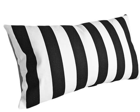 patio black white striped pillow 10x16 inches by