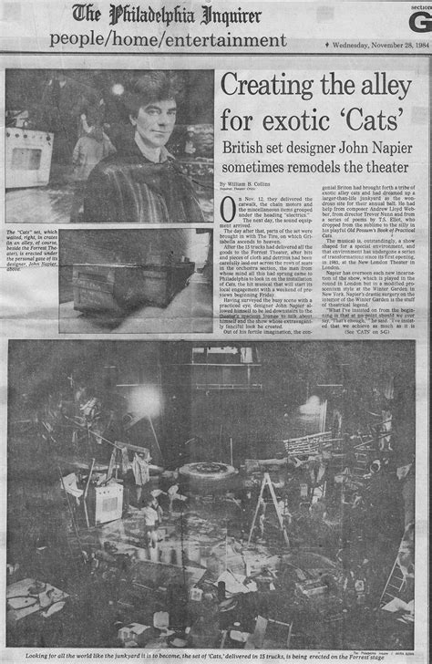 Creating the alley for exotic 'Cats' - John Napier Stages
