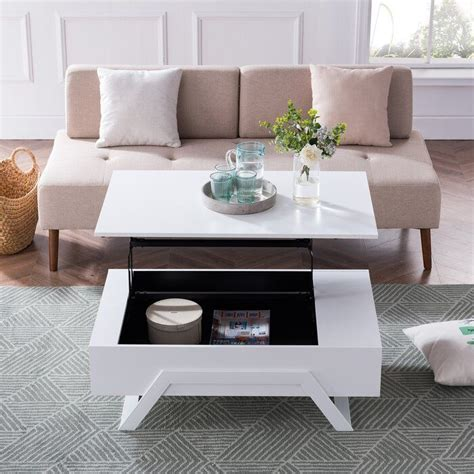 Simply lift the top of the table to raise it. Delrio Lift Top Trestle Coffee Table (With images)   Coffee table, Contemporary coffee table ...