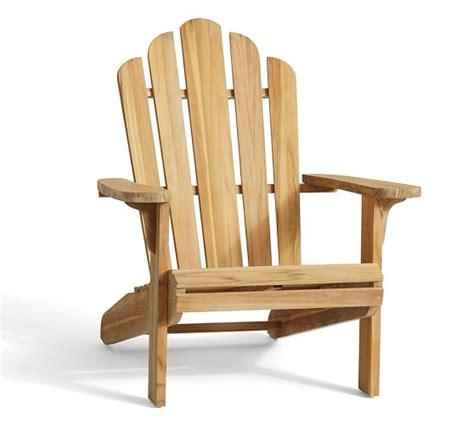 pb classic adirondack chair teak pottery barn