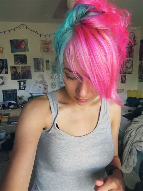 Best 25 Blue And Pink Hair Ideas On Pinterest Fantasy
