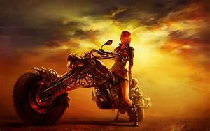 Girl and Bike Wallpaper (77+ images)