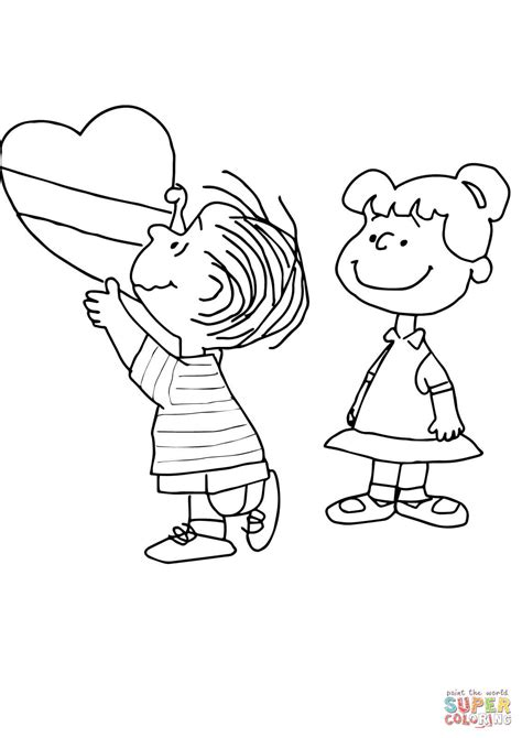 snoopy valentine coloring pages coloring home
