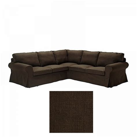 Ikea Ektorp Chair Cover Brown by Ikea Ektorp 2 2 Corner Sofa Cover Slipcover Svanby Brown