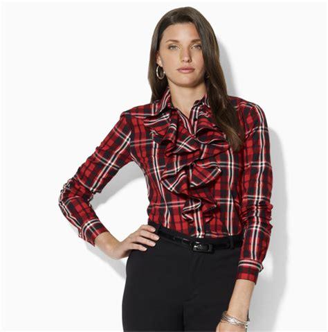plaid blouse plaid blouse shirt 39 s lace blouses