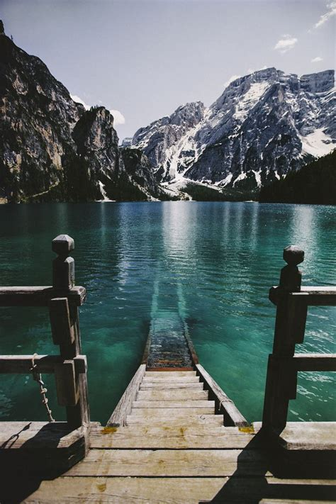 Into The Turquoise Lake Braies Dolomiti Italy
